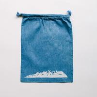 INDIGO 巾着Mサイズ Ridge NO.2