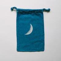 INDIGO 巾着Sサイズ /MOON  NO.8