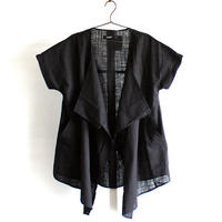 【kurijyua】 フロントドレープシャツジャケット