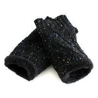 【albino select】 裏ボアカラーネップケーブルニット手袋