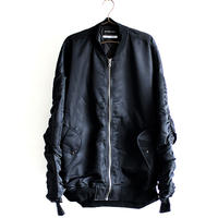 【AS SUPER SONIC】 アームシャーリングデザインオーバーサイズMA-1ジャケット