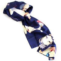 【albino select】 フラワーモチーフレディ柄スカーフ
