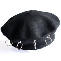 【albino select】 リング金具付きフェルトベレー帽