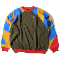 Shoulder Switching Big Sweat(Olive)※直営店限定色