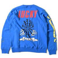 Lucky Wide Sweat(Blue)