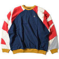 Shoulder Switching Big Sweat(Navy)