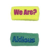 """Aldious Tour 2018 """"We Are"""" スリムリストバンド2個セットブリリアントイエロー&ミント(特典ステッカー付き)"""
