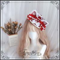 ロリータ 帽子 レディース  ヘッドドレス 猫耳 ねこ耳 コスプレ ハロウィン かわいい パーティー