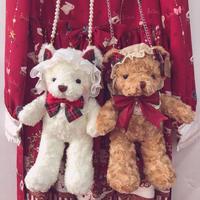 テディベアバッグ ポシェット ショルダーバッグ ぬいぐるみ かわいい 可愛い ロリータ   ニューイヤー クリスマス版