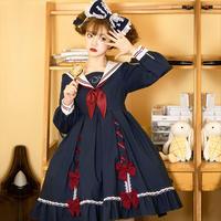 ワンピース ロリータ ロリィタ セーラー服 ゆめかわいい 刺繍 日常 女子高生 制服 学生風 コスチューム