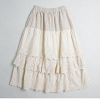 森ガール スカート3層 多層 刺繍 ペチコート オールシーズン   ロリータ 74cm