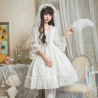 ウエディング ドレス ロリータ 純白 花嫁  華麗 クラシック ホワイト   結婚式