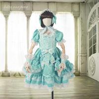 ドレス 子供服   ワンピース ロリータ 少女 カチューシャ キッズ クラシカル かわいい 姫