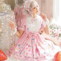 ロリータ ワンピース 半袖 秋 夏 春 レディース オリジナル 【ブルーベリー】ロリィタ ゆめかわいい Lolita