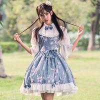 ロリータ  ワンピース  チャイナ風 ブラウス + ジャンパースカート  ドレス  姫系 かわいい 清純