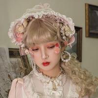 ロリータ ボンネット ヘアアクセサリー  レディース 髪飾り ゆめかわいい コスプレ ハロウィン