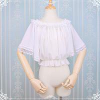 ロリータ レディース  ブラウス 夏 半袖  清涼感 かわいい 上品