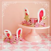 ロリータ 帽子 ハット Lolita うさ耳 ウサギ ハート型 レディース ロリィタ コスプレ かわいい