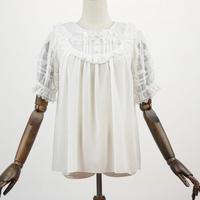 ロリータ ブラウス 半袖 夏 かわいい 涼しい 清楚 レディース ピーターパン襟