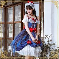 ワンピース ロリータ 白雪姫 3点セット コスプレ ドレス レディース 豪華  姫 プリンセス コスチューム  S-3XL
