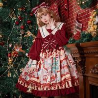 ロリータ Lolita ロリィタ ワンピース クリスマス 秋冬 甘ロリ スイート ゴスロリ