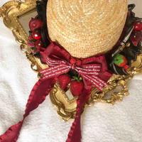 ロリータ ゴスロリ 麦わら帽子 帽子 レディース いちご  可愛い 田園風 夏   コスプレ  パーティー