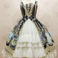 ロリータ レディース ドレス  ジャンパー ワンピース ウサギ柄  お姫様 かわいい 豪華 貴族風
