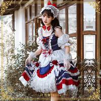 ロリータ ジャンパースカート 白雪姫  5点セット ワンピース 姫 コスプレ ハロウィン 仮装 衣装