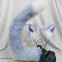 猫 ロリータ ねこ耳 モコモコ しっぽ リアル ヘアバンド ヘア飾り カチューシャ 小物