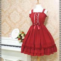 ロリータ ロリィタ ワンピース レディース ジャンパースカート ドレス 選べる6色