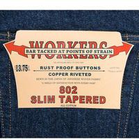 WORKERS【Lot802】SlimTaperedJeans
