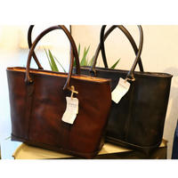 VASCO【LEATHER NELSON TOTE BAG】Black