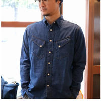 WORKERS 【 WesternShirt 】 8oz IndigoDenim,Washed