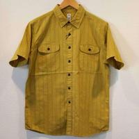 KATO'【カラミ3本針S/Sワークシャツ】