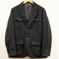 KATO'【 SAFARI JACKET 】GrenPlaid Tweed  Size.38