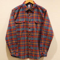 KATO'【ツイルマドラスワークシャツ】Size.S