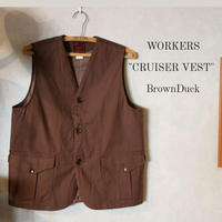 WORKERS【 CRUISER VEST 】BrownDuck