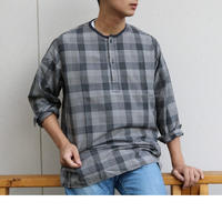 WORKERS【SleepingShirt,LongSleeve】Twill Check Size.Large