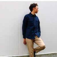 KATO'【へヴィーネルワークシャツ】NAVY  Medium