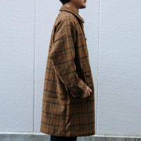 WORKERS【BALCOLLARCOAT , HARRISTWEED】OlivePlaid Size.38