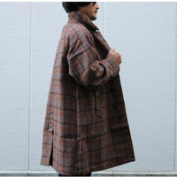 WORKERS【BALCOLLARCOAT , HARRISTWEED】BrownPlaid Size.40