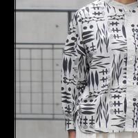 GRANDMAMAMADOUGHTER【PLANTSバンドカラーショートシャツ】