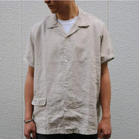 WORKERS【OpenCollarShirt】Ecru , Black
