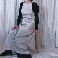 A Line Long  Apron Dress /Grey