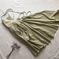 "apron dress ""JEANDREE""  /Green"