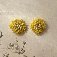 菜の花のピアス/イヤリング