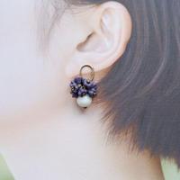 (販売終了)紫陽花ピアス/イヤリング・紫