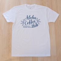 日本初上陸★アロハコーヒーラボ オリジナルTシャツ (ホワイト)Made in Hawaii