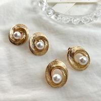 Vintage pearl pierces/earrings #256