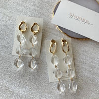 【Hand-made】The clear pierces / earrings #19